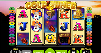 Gold minder slot screenshot