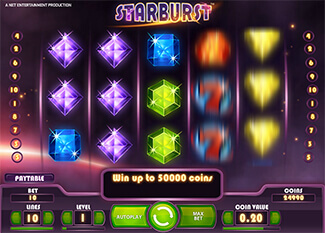 Starburst slot screenshot